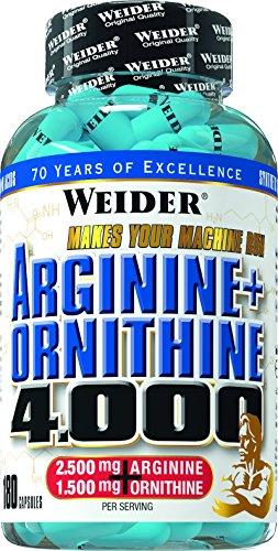#Weider Arginine plus Ornithine 4000- 180 Kapseln, 1er Pack (1 x 157 g)#