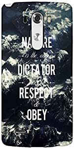 Snoogg Obey Nature Designer Protective Back Case Cover For LG G3