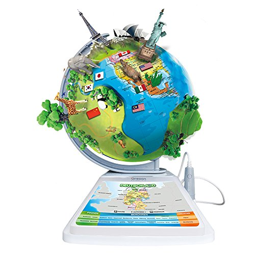 Oregon Scientific – Innovativer Kinderglobus SmartGlobe Adventure mit Smart Pen und erweiterter 3D-Realität