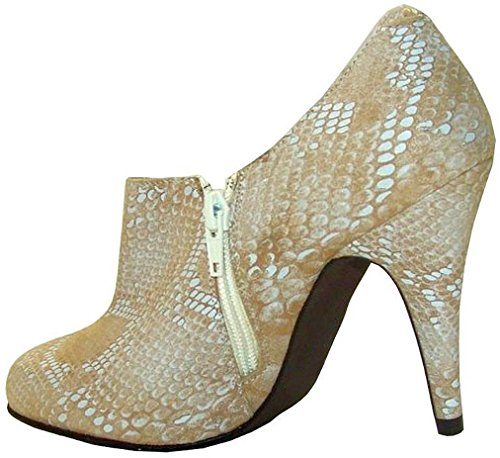 Ashley Brooke Hochfrontpumps Leder beige Beige