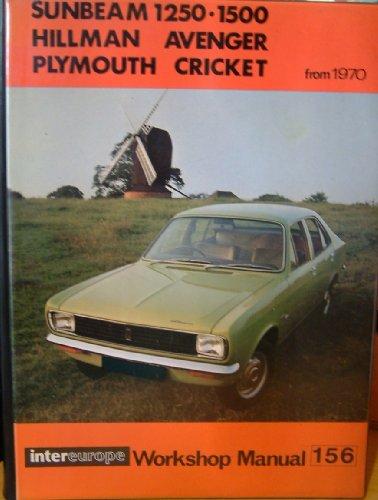 Sunbeam 1250-1500, Hillman Avenger, Plymouth Cricket Workshop Manual 158