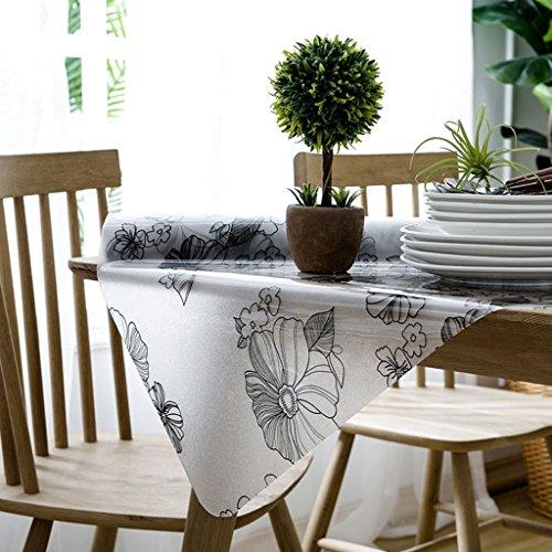 Nappe en Verre Souple PVC Tapis de Table Givré Tapis de Table à Thé Tapis en Plastique Imperméable à l'Huile Anti-Chaud Lisse Nappe de Mode Lisse ( Couleur : Style1 , taille : 70*140cm )