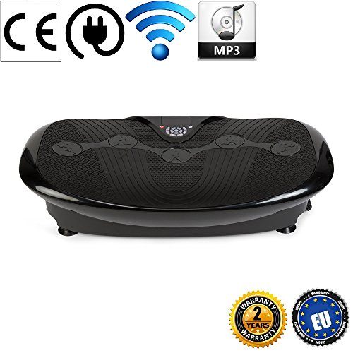 GLOBAL RELAX Zen Shaper Plus Schwingen Fitness Vibrationsplatte –Schwarze (Modell 2019)-3 Automodi, 10 manuellen –MP3 Musik-3 Funktionen (Gehen–Joggen–Laufen)-Offizielle 2 Jahre GARANTIE Deutschland