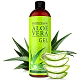 Organic Aloe Vera Gel with 100% Pure Aloe from FRESHLY CUT Aloe Plant, not powder - NO XANTHAN, so it absorbs rapidly with No sticky residue - Big 12 oz/355ml