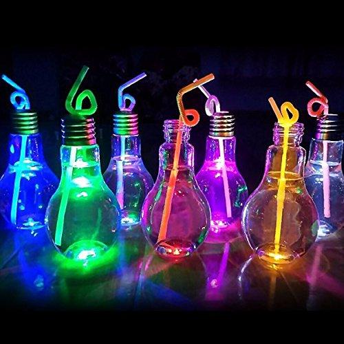 Bazaar Kreative 500ML Glühbirne Glühen Glasflasche für Getränke Anlage Blumenvase Home Decor