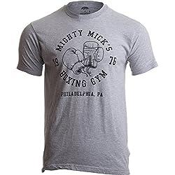 «Mighty Mick's Boxing Gym 1976» -Camiseta Vintage Hombre Sport Grandes Deporte Gris - Grandes - L
