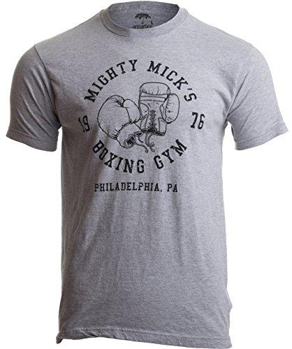 """Mighty Mick's Boxing Gym 1976 Philadelphia"" - Shirt mit Boxhandschuh-Motiv - Vintage-Stil Herren Boxen Boxsport T-Shirt mit Schriftzug - M"