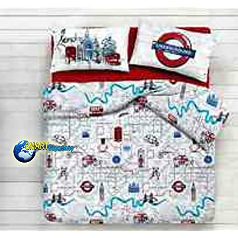 Funda nórdica individual (una plaza) Metro london underground city Londres Ciudad – Saco fundas nórdicas Idea regalo Producto Italiano – Made in