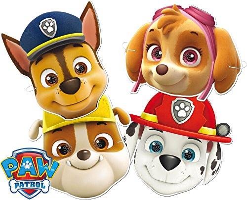 6 Masken * PAW PATROL * als Verkleidung und Mitgebsel für Mottoparty und Kindergeburtstag // CONO (Für Feuerwehr-maske Kinder)