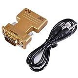 Weiblich HDMI auf VGA männlich 1080P Video Konverter Adapter mit 3,5-mm-Stereo-Audio für Laptop PC DVD TV Handy-Kamera