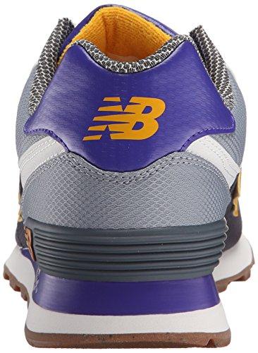 New Balance WL574VV1, Baskets Basses Homme Gris (Dark Grey/Blue/Light Grey)
