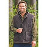 Champion LANARK bodywarmer - Brown Medium - mens waxed weatherproof padded