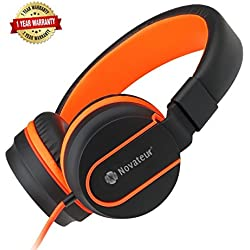 Headphones With Mic for Mobiles, Smart Phones, Laptops, Corded and Foldable