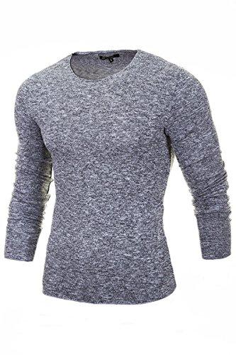 merish-pullover-herren-strickpullover-slim-fit-roundneck-hoodie-shirt-sweatshirt-modell-306-hellgrau