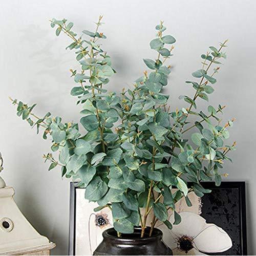 Ausomely Künstliche Eukalyptus Pflanze Künstliche Leaf Greenery Kunstpflanze Urlaub Hochzeit Home Dekoration Zubehör -