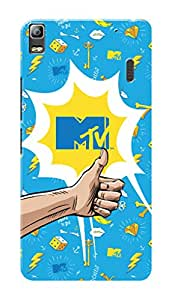 MTV Gone Case Mobile Cover for Lenovo A7000 Plus