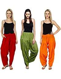 Mango People Products Combo Red ,Mehandi, Orange & 3 Colours Womens & Girls Solid Cotton Mix Best Indian Ethnic...