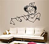 Decals Design 'Krishna' Wall Sticker (PVC Vinyl, 50 cm x 70 cm, Multicolour)