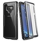 YOUMAKER Crystal Clear Coque Galaxy Note 9, Full Body Protecteur d'écran intégré Heavy Duty Protection Fin à résistant aux Chocs Robuste Coque Samsung Galaxy Note 9(2018) 16,3cm Claire