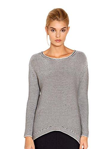 Damen Pullover mit 2 farbigem Rippenstrick 36 by OUI