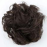 PRETTYSHOP Haarteil Haargummi Hochsteckfrisuren unordentlicher Dutt gewellt VOLUMINÖS braun mix #4/30 G15A