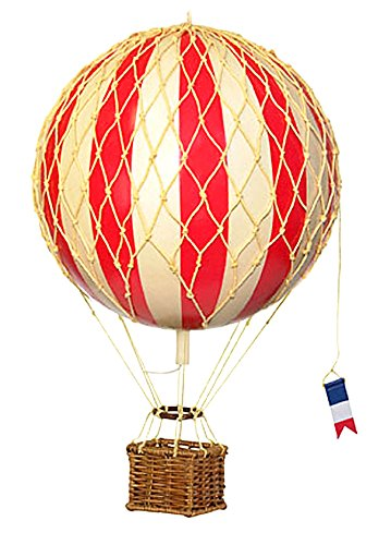 Authentic Models - Dekoballon - Ballon Rot - 18 cm - Ballon-netz