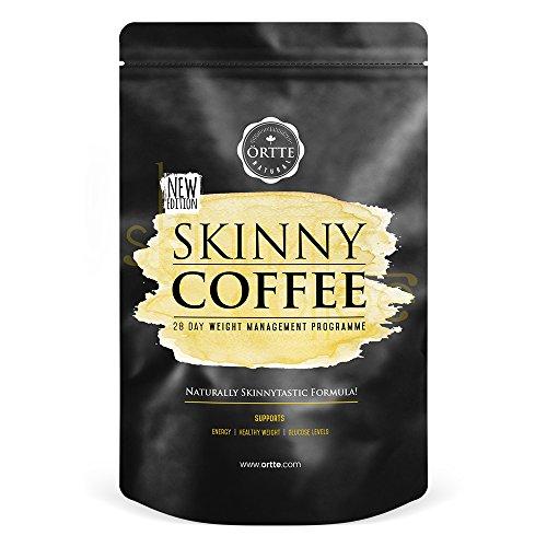 Skinny Coffee | Caffè per il Metabolismo | Brucia Grassi con Gusto | Miscela Bruciagrassi | Acido Clorogenico | Caffè Verde | Usalo al Posto del Normale Caffè la Mattina | Confezione 100g | 28 Giorni