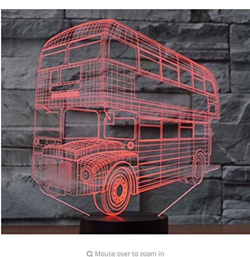 (3D Led Nachtlicht Mode Doppeldeck Bus Auto Mit 7 Farben Licht Für Heimtextilien Lampe Erstaunliche Visualisierung Optische Täuschung Licht Box)