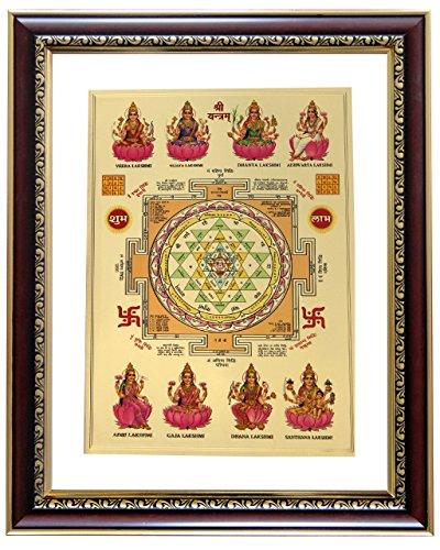 a4ffae5d13cf Goldart 0757440349465 Lakshmi Chakram Gold Foil Photo Frame Wall Hangings  Sycl S4- Price in India