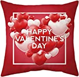 dyudyrujdtry Charming Sweet Heart Love Throw Pillow Covers Cotton Linen Cushion Cover Pillow Case For Valentines Day 45 * 45 Cm(None one size H08)