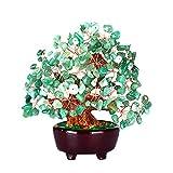 MagiDeal Figur Baum Geld aus Kristallglas Bonsai–Symbol Feng Shui–Schutz Langlebigkeit Wohlstand–18cm, grün