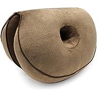 Preisvergleich für Homesave Sitzkissen Kissen Atmungsaktiv Bequemen Speicherschaum Schöne Hüften Verbessern Haltung Sciatica Schmerzlinderung und Hüft Form,Brown