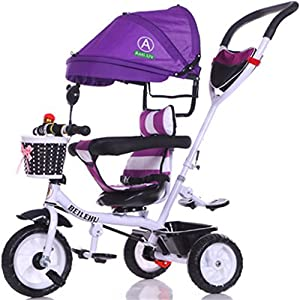 Children's Bicycle Baby Bicycle Baby Bicycle Baby Three-Wheeled Baby Carriage Baby Travel System (Size : B)   7