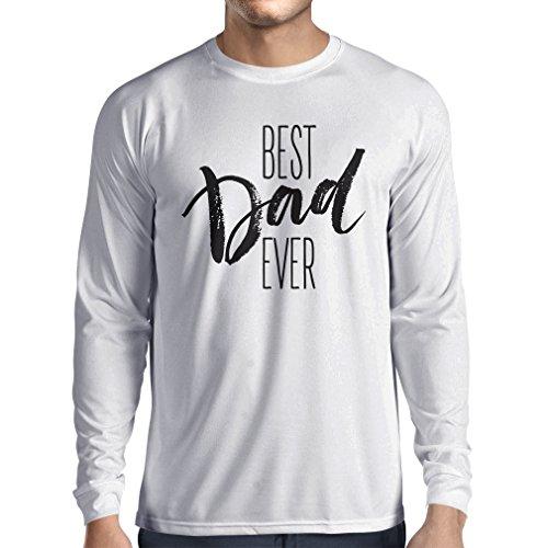 Langarm Herren t shirts Bester Vati überhaupt glücklicher Vatertag oder Geburtstagsgeschenk für Ehemann Weiß Mehrfarben