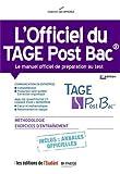 L'officiel du TAGE Post Bac : Manuel officiel de préparation ...