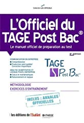 estimation pour le livre L'officiel du TAGE Post Bac : Manuel officiel de...