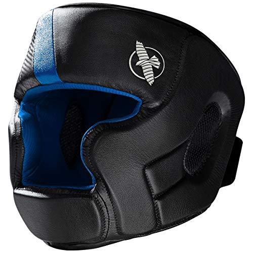 Hayabusa T3 MMA Headgear, Talla única, Negro/Azul