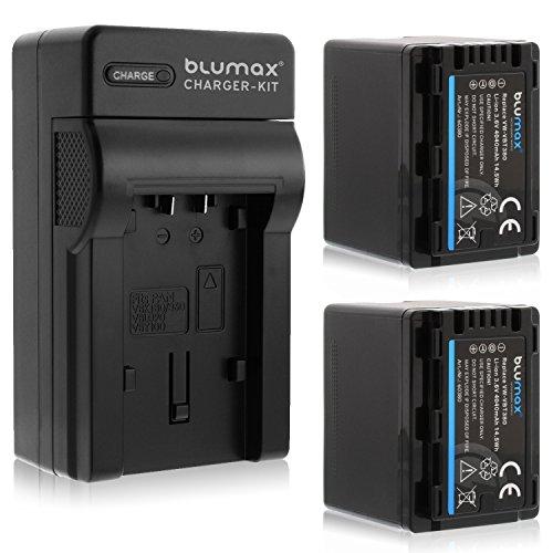 Blumax 2X Premium Akku 4040mAh + 1x Ladegerät für Panasonic VW- VBT 380 E-K