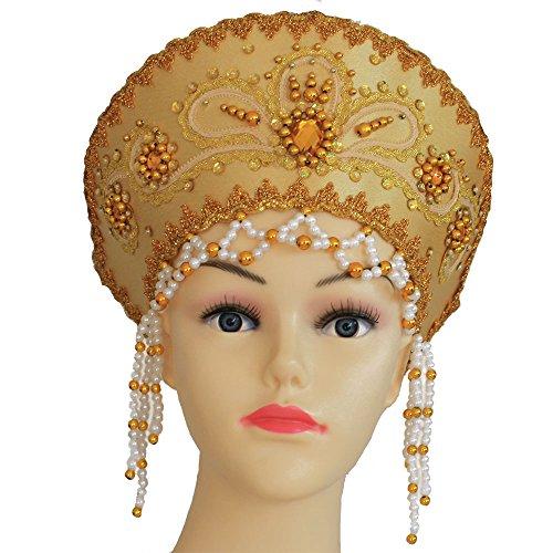 Kokoschnik, russischer Kopfschmuck 'Vicky' (Kostüm Russische Ideen)