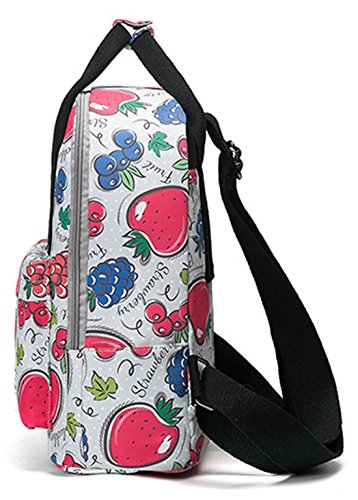 Zaini Scuola Keshi Nylon Carino / Zaini Scuola / Ragazze Zaino Vintage Con Strisce Moderne Per Ragazzi Ragazzi Studenti Multicolor 3