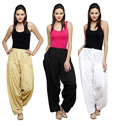 Pistaa Combo of Womens Solid Cotton Beige,Black And Milky White Full Ethnic...