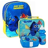 Questo zaino di alta qualità e questa borsa per il pranzo sono l'accessorio ideale per il rientro a scuola. Lo zaino è dotato di un grande vano portaoggetti che misura circa 33cm x 25cm x 10cm. Sono dotati di un design divertente e colorat...