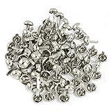 sourcingmap® 100 Stück Metall silbrig Teilt Nieten für Beutel-Kleidung Material: Metall