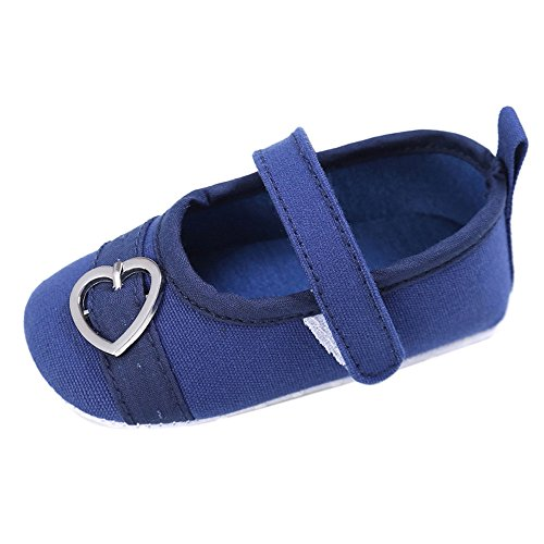 JYJMNewborn Baby Kids Boys Girls Heart Design Hasp Shoes Toddler Soft Sole Sneakers (Größe: 11, Blau)