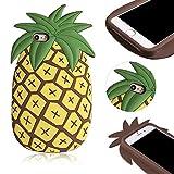iPhone SE Hülle, MOMDAD Cartoon TPU Silikon Schutzhülle für iPhone SE 5S 5 Handyhülle 3D Kreativ Soft Rückseite Case Cover Schutz Rutschfeste Anti-Kratzer Handy Tasche Schale Bumper - Big Pineapple Große Ananas