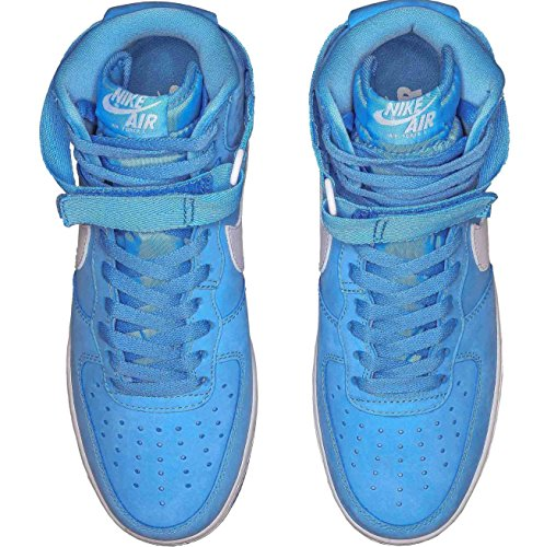 Air Force 1 Hi Retro Qs, vertice Bianco / Lupo grigio, 8 M Us Multicolour - Azul / Blanco (University Blue/Summit White)