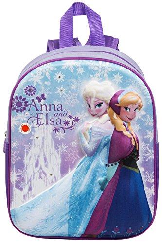 2878d6ec47e Disney Frozen Anna and Elsa 3D LED Junior School Backpack Toy Bundle for  Children Toddler Kids – 5 Piece