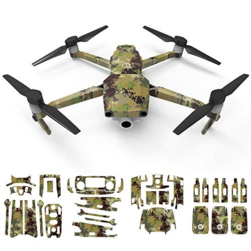 Mitlfuny RC Quadrocopter Drohne,Skin Waterproof Full Body Schutzfolie PVC 3D Aufkleber Aufkleber für DJI Mavic 2