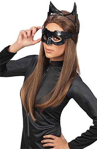 Rubie 's Offizielle Catwoman Deluxe Maske und Ohren Batman, Erwachsenen-Kostüm–One Size (Cat Kostüme Amazon)