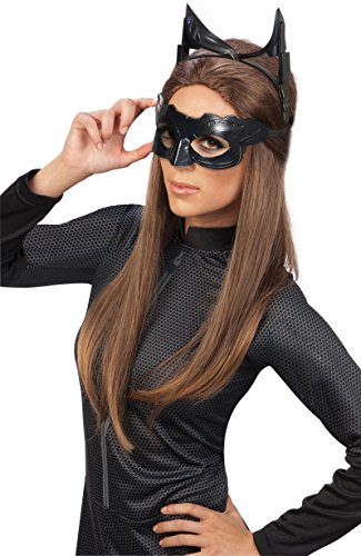 Accessoires Kostüme Superhelden (Rubie 's Offizielle Catwoman Deluxe Maske und Ohren Batman, Erwachsenen-Kostüm–One)